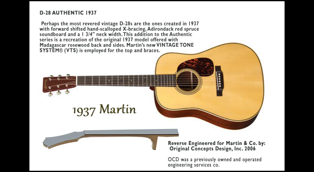 1937 D-28 Martin Guitar